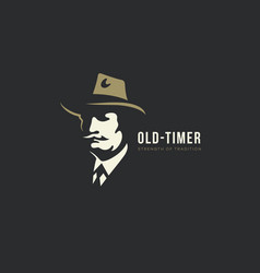 Old man logo vector