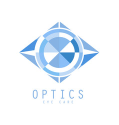 Optics logo symbol vector