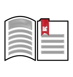 Paper pages with download arrow vector