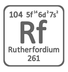 periodic table element rutherfordium icon vector image