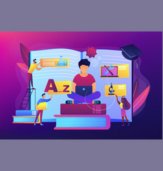personalized learning concept vector image
