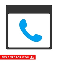 Phone Calendar Page Eps Icon vector