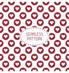 Red romantic wedding geometric seamless pattern vector image