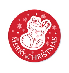 Round christmas greeting card vector