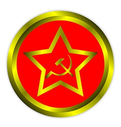 soviet union flag icon or button vector image