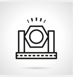 spotlight simple line icon vector image