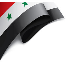 Syria flag on a white vector