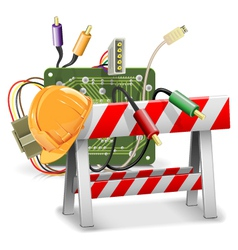 Under Construction Concept with Barrier vector image vector image