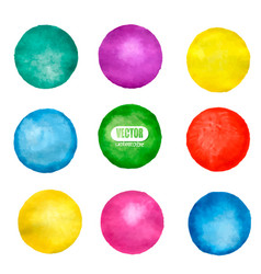 watercolor circle elements for design vector image