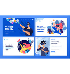 web design templates virtual reality vector image