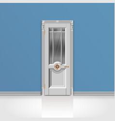 white entrance door vector image