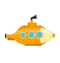 yellow submarine isolated on white background vector image