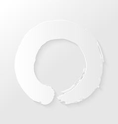 Zen circle paper shadow vector image