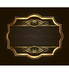 Golden frame for placing your picture or text vector