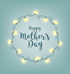 background with badge and greeting happy mother s vector image vector image