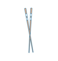 chopsticks japanese food cutlery vector image