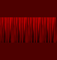 colorful naturalistic gradient red curtains vector image