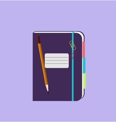 Daily Notepad Isolated Design Flat vector image