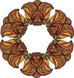 Fantastic orange flower vector image vector image