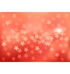 Red festive lights in star shape background vector image