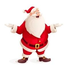 Santa claus throw up hands vector image