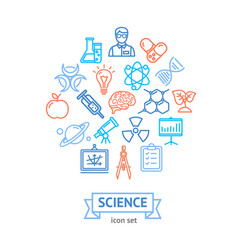 science research thin line icon concept vector image vector image