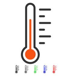temperature level flat icon vector image