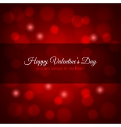 valentines day red lights design background vector image