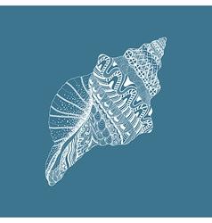 Zentangle stylized sea cockleshell Hand Drawn vector image vector image