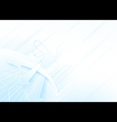 Abstract blue and white technology concept vector image