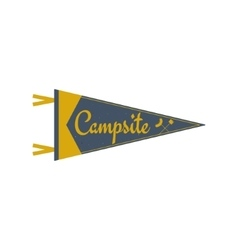 Adventure pennant Campsite Pennant Explorer flag vector image vector image