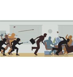 Aggressive corporate takeover vector image vector image