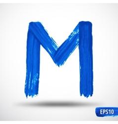 Alphabet Letter M Watercolor Alphabet vector image vector image