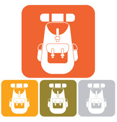 backpack icon vector image