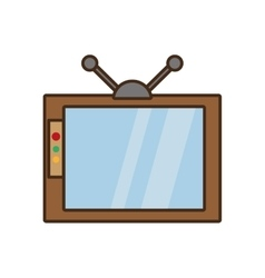 cartoon retro television watching design vector image