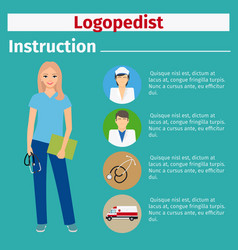 medical equipment instruction for logopedist vector image