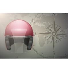 Motorcyclist traveler background vector image