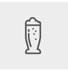 Mug of beer thin line icon vector image vector image