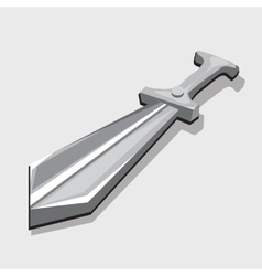 Silver sword three-dimensional image Toy style vector image