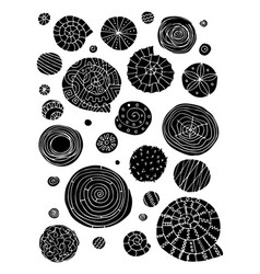 abstract design elements spirals and circles vector image