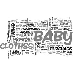 baby clothes essentials you cannot do without vector image vector image