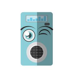 Cartoon music mp3 icon wink vector