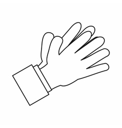 Clapping applauding hands icon outline style vector image vector image
