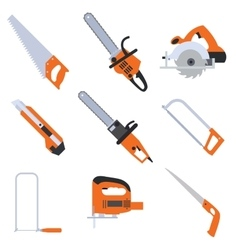 Collection of saw icons vector image