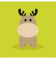 Cute Cartoon deer vector image
