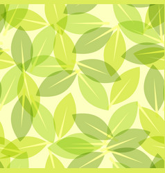 green leaf spring wallpaper elegant fresh foliage vector image vector image