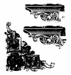 grunge scrap vector image vector image