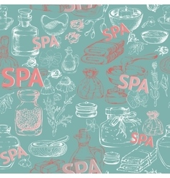 Hand drawn silhouette spa accessories vector image vector image