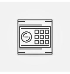 Hotel safe icon or logo vector image