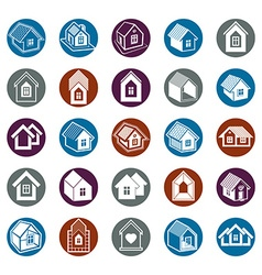 Houses abstract icons can be used in advertising vector image